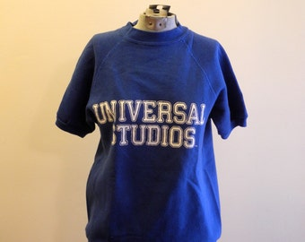 Universal Studios 60s / 70s raglan short sleeve sweatshirt UNISEX sz. Small / Medium