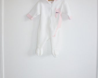 Vintage Pink and White Giraffe Sleeper
