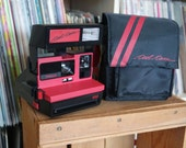 1980's Red Polaroid Cool Cam 600 Film Camera with Bag, Film-Tested & Working
