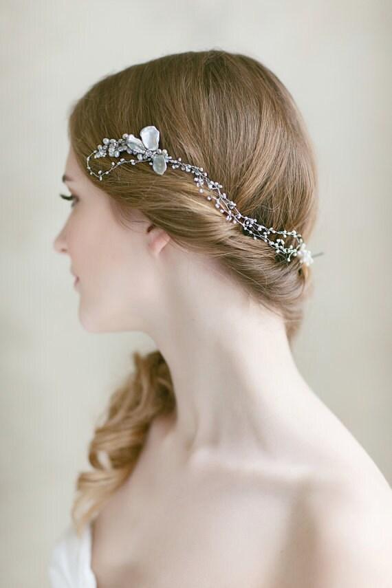 Bridal Hair Piece Wedding Pearl Headpiece Wedding Hair - photo #36