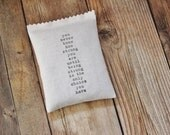 Lavender Filled Sachet, Encouragement Gifts for Friend, Strong Quote, Calming Scent