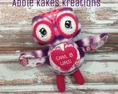 Custom Plush Valentine's Day Owl / Owl Be Yours / Stuffed Animal / Ready to Ship