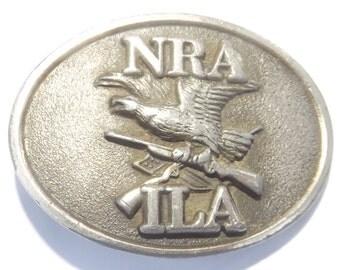 Vintage NRA Gun Advocacy Belt Buckle