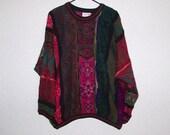 COOGI Australia COLORFUL 3D Mens Sweater, Large Mercerised Cotton Coogi Hip Crew Neck Coogi Multicolor Rich Jewel Colors  L