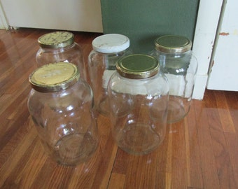 Gallon Jar with Metal Screw on Lid Priced for One Only