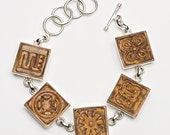 Amber Adrinkra Tile Bracelet 01