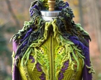 Custom COAT for Ann. Fantasy corset style sweater coat