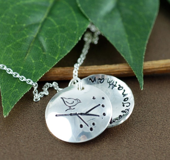 Mama Bird Locket Necklace