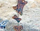 Chihuahua Garden Stake / Garden Art / Angel Dog / Metal / Pet Memorial / Copper / Patina / Outdoor / Grave Marker / Handmade / Garden Stake