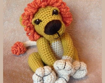 Curly Lion - PDF Crochet Pattern