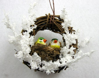 Birds in a Nest Christmas Ornament 205