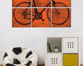 Kids Room Wall Art - Large Road Bike Print - Bicycle Wall Art in Custom Colors