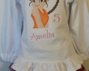 Fairy Fawn Personalized Embroidered Onesie or Shirt or tank