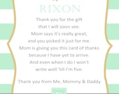 Twinkle Twinkle Little Star Baby Shower Thank You Card - You Print - 4x6 or 5x7