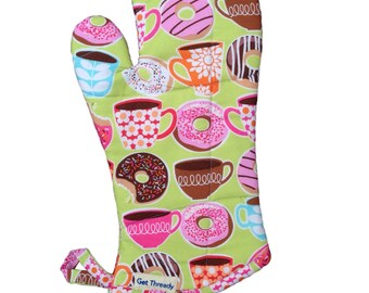 Coffee & Donuts Oven Mitt