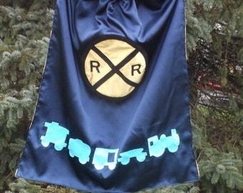 Train Cape Railroad Superhero Cape Custom Super hero cape