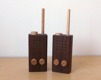Handmade Toy Wood Walkie Talkies