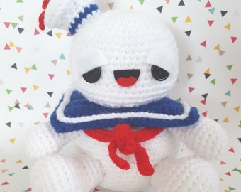 Ghostbusters Stay Puft Marshmallow Man Amigurumi Pattern PDF - Instant Download
