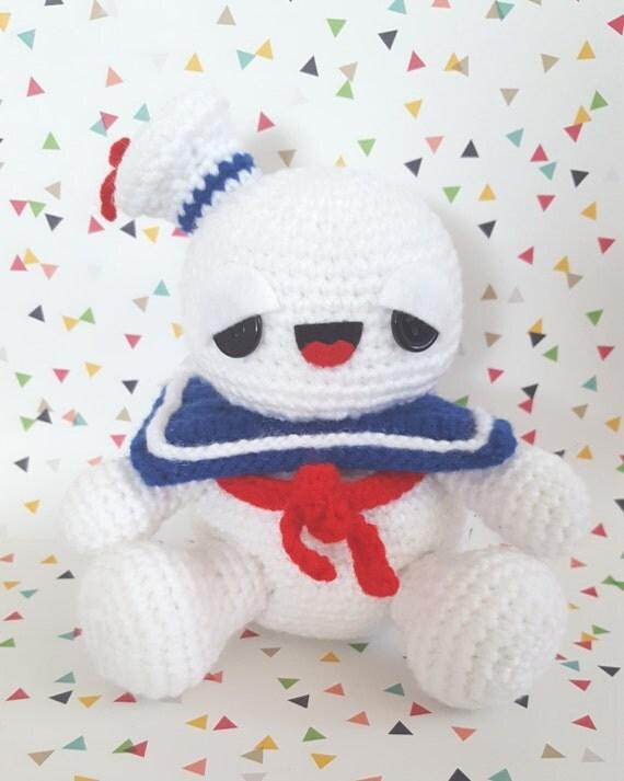 Ghostbusters Amigurumi Pattern : Ghostbusters Stay Puft Marshmallow Man Amigurumi Pattern PDF