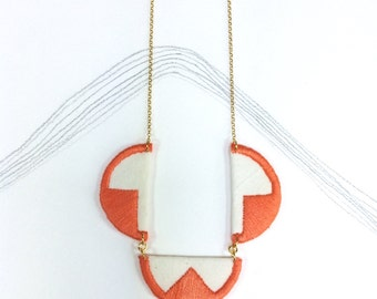 EBBE - Linen, Thread and Gold - Coral