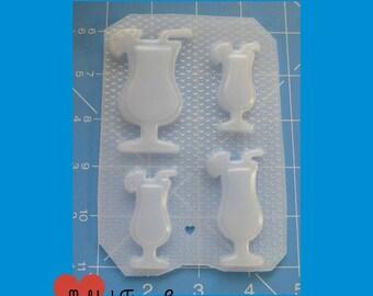 SALE Retro Hurricane Glasses  Flexible Plastic Handmade Resin Mold
