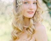 Vintage inspired Bridal Hair comb, Crystal Wedding Hair Comb, Crystal and pearl Headpiece, Wedding Hair Accessory - Style 503