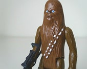 Vintage 1977 Star Wars Chewbacca Action Figure, Complete with Original Crossbow Accessory - 1970's Kenner Star Wars Classic Toy Figure