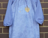 Waterproof apron. Kids art smock, long sleeve waterproof front craft apron. Fits age 5 to 8. Princess.