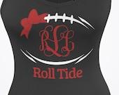 Roll Tide Football shirt or tank top Football SEC gear customizable monogram