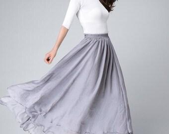 chiffon maxi skirt,  long skirts for women, summer skirt,  Women's Skirt Girl's Skirt Maxi Skirt 1508