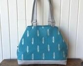Lotus Handbag in Shimmering Plume in Ocean