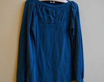 Sale, Extra Small, Women's Top, Jersey, Long Sleeve, Folded Detail, Classic- Made to order
