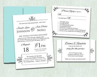 Funny Wedding Invitation, Printable Wedding Invitation template NRDIY-62014