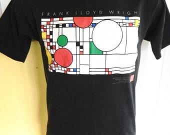 Frank Lloyd Wright 1990s vintage tee shirt - black size Medium