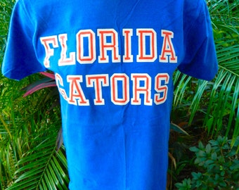 Florida Gators 1980s vintage tee - blue size small