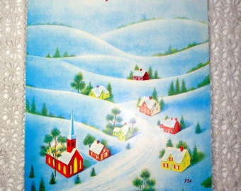Vintage Sheet Music, Twelve Days Of Christmas, 1966, 1960's, Popular Edition, Holiday Music, Song, Blue, Thomas Music Company  (935-15)