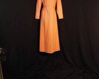 Mod Vintage 60s Long Dress Alfred Werber Hollywood Glam Collectible Maxi ML