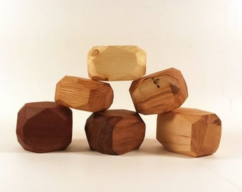 Zen blocks, office toy, coffee table, wood sculpture art, wooden treasure, abstract blocks, sensory toy, peace and calming, desk toy, exotic