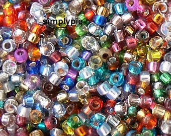 15/0 TOHO, Silver Lined Mix Glass Seed Beads 10-Grams
