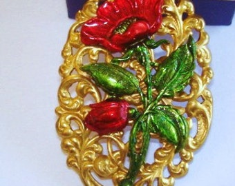 Flower  Brooch K.L.Design
