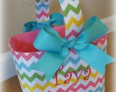 Reserved listing for Tami ... Personalized Chevron Easter Basket