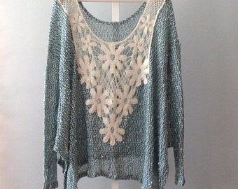 Boho bohemian gypsy soul tunic cozy light weight sweater by Gina Louise