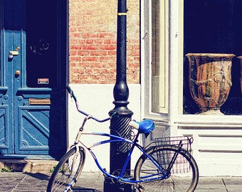 "New Orleans Photograph ""NOLA Bicycle"" french quarter vintage bicycle photography new orleans art louisiana mardi gras fine art print"