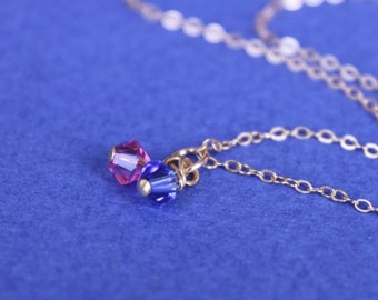 Mother's Necklace Birthstones Necklace, Family necklace,Swarovski Birthstones