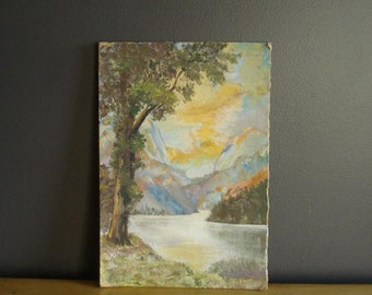 Once Upon a Mountain - Vintage Landscape Painting