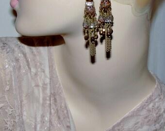 Bronze tassel earrings Pamelia Designs Sacred Jewelry