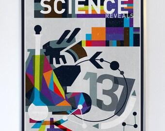 Science Reveals Science Art Print, Science Poster, Art Print,  Science Illustration
