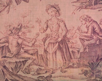 antique french toile de jouy wallpaper design illustration digital download