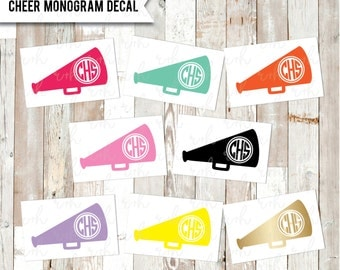 Cheerleading Monogram Decal