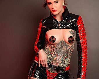 Nuclear Radioactive Symbol Rhinestone Nipple Pasties - SugarKitty Couture